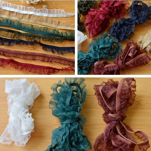 Эластичные аксессуары для нижнего белья, 1,6 см, ширина 5 метров, 7 цветов, белый, зеленый, хаки, синий