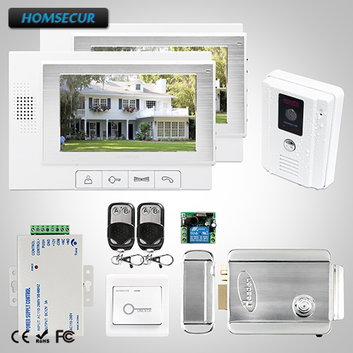 HOMSECUR 7 Wired Video&Audio Smart Doorbell Electric Lock+Keys Included TC011-W + TM702-WHOMSECUR 7 Wired Video&Audio Smart Doorbell Electric Lock+Keys Included TC011-W + TM702-W