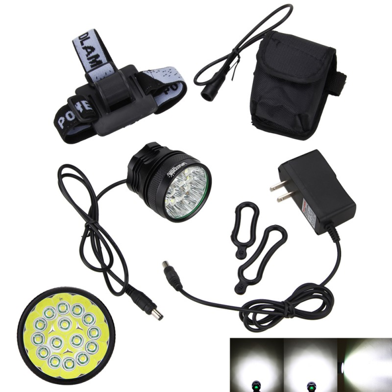 50000Lm LED Front Bike Lamp 15x XML T6 LED  Bicycle Light Torch 3 Modes Lantern+Rechargeable 8.4V 6 x 18650 Battery Pack+Charger 6000lumens bike bicycle light cree xml t6 led flashlight torch mount holder warning rear flash light