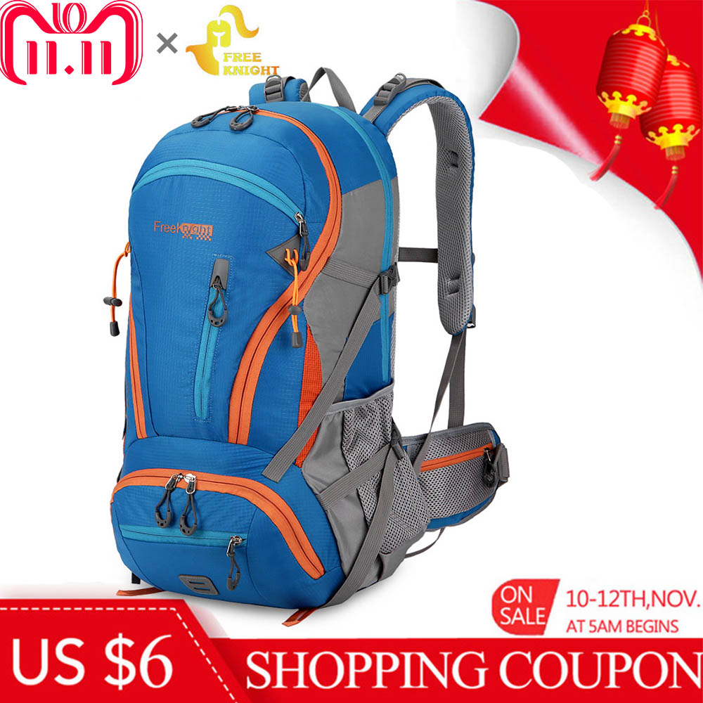 Free Knight 45L Large Capacity Climbing Hiking Molle Backpack Water Resistant Camping Mountaineering Backpack Sport Travel Bag techwill 45l casual lightweight water resistant backpack daypack for travel