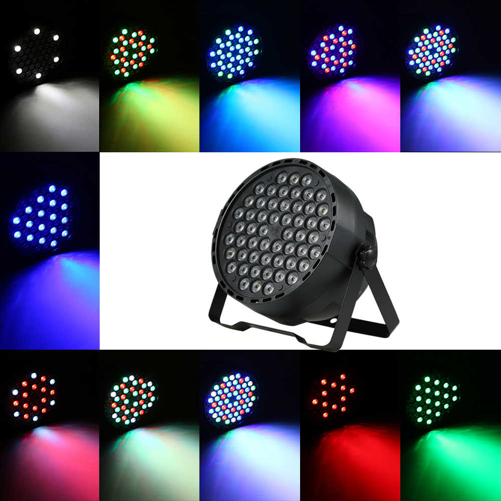 54 LEDs RGBW LED Bühne Licht Helle DMX Beleuchtung Projektor Lichter Stimme Aktiviert DJ Bühne Licht Für Show Party Disco urlaub