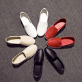 2016 Genuine Leather Spring Autumn Women Flats Shoes Woman Loafers Women's Flats Soft White Nurse Shoes Female Shoes