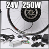 E Bike 24V 250W Motor With Disc Brakes Hub Electric Bicycle Ebike Conversion Kit Front Or