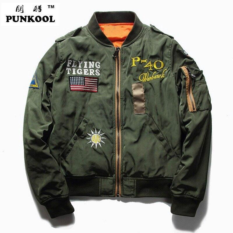 Aliexpress.com : Buy PUNKOOL Ma1 Bomber Jacket Men 2017 US ...