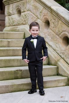 Custom Made Kids Tuxedos Boys Suit Wedding Party Formal
