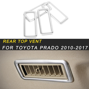 For Toyota Prado 2017-2018 Car Styling Rear Seat Top A/C Air Conditioner Vent Panel Cover Sticker Interior Accessories