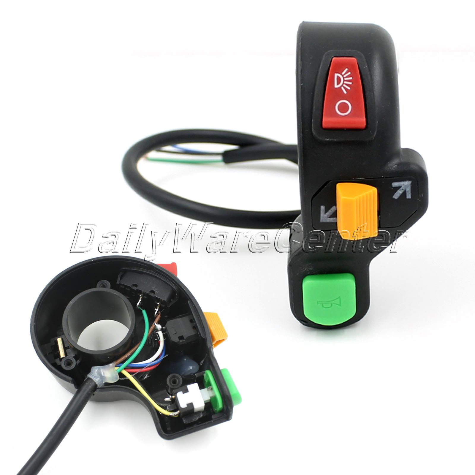 7/8inch Universal Handlebar Switch Motorcycle Scooter Dirt ATV Quad Handle Horn Switch Headlight Turn Signal Light On/Off Switch
