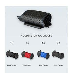 Image 5 - Housse de volant de voiture en cuir artificiel noir cousu main pour Lada Granta 2011 2012 2013 2014 2015 2016 2017 2018