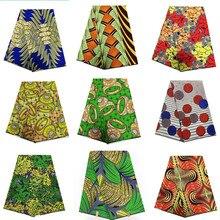 2018 Последние 100% хлопчатобумажная африканская ткань воск Hollandais стиль настоящий голландский супер 6 ярдов/Лот! T111305