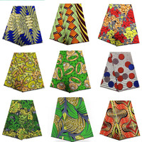 2019 Latest 100% Cotton African Fabric Wax Hollandais Style Real Dutch Hollandais wax 6 yard/lot !T111305