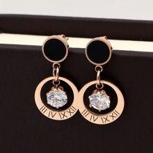 Модные ювелирные изделия черные круглые подвесные циркониевые