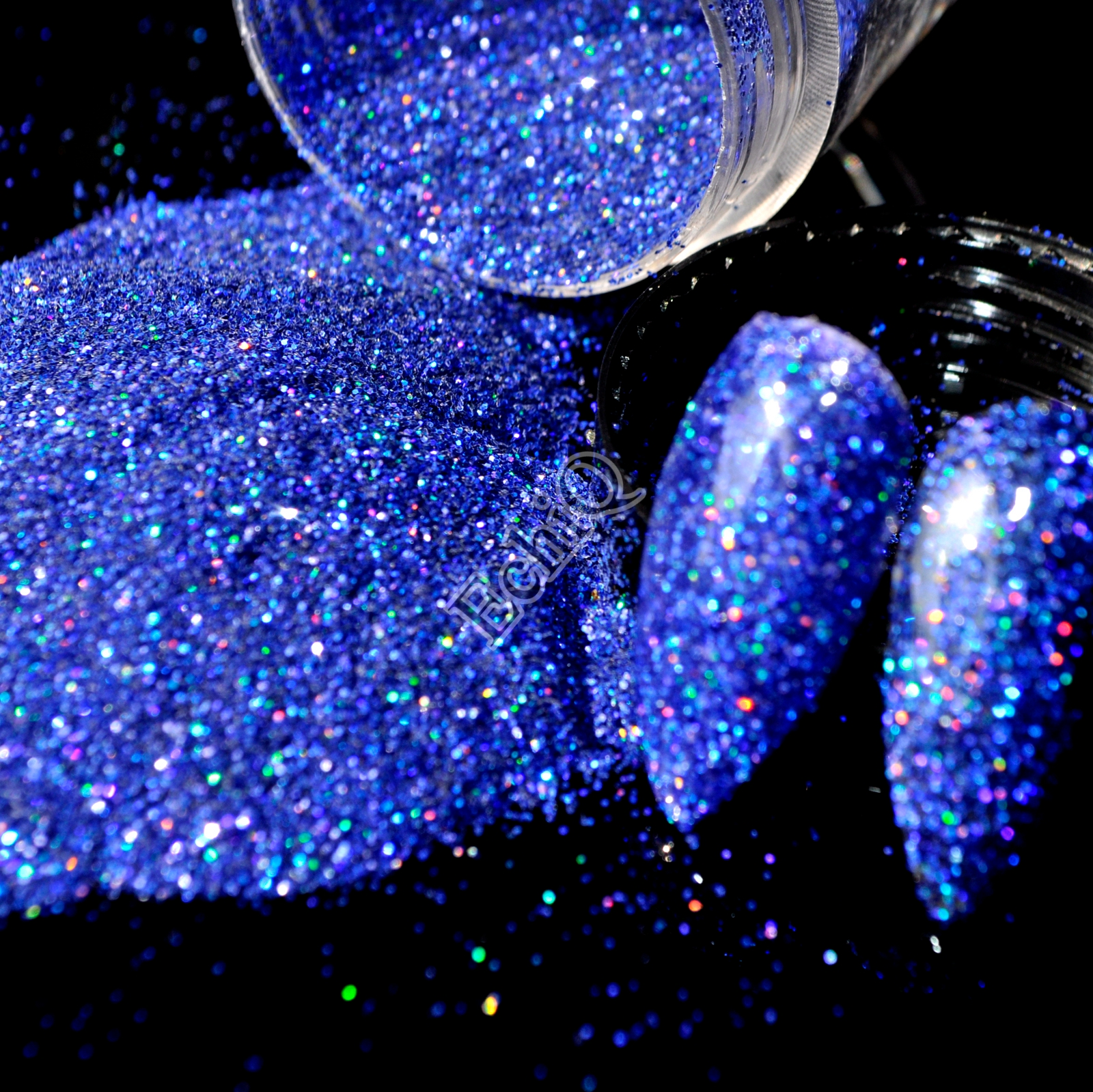 все цены на  Holographic Diamond Blue Nail Art Glitter Powder DIY UV Manicure Supplies Laser AB Shimmer Powder Dust N58  онлайн