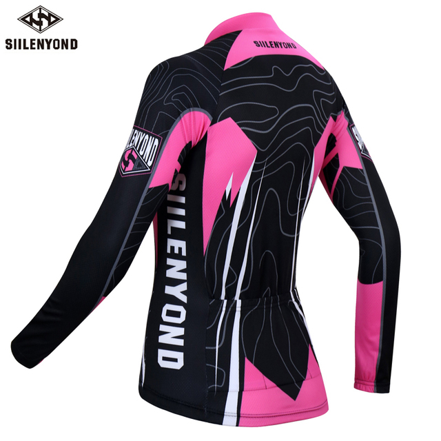 Siilenyond 2019 Women Pro Winter Thermal Cycling Jersey Long Sleeve Mountain Bicycle Cycling Clothing MTB Bike Cycling Clothes 1