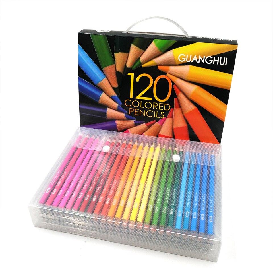 Madera profesional 120/136 color Lápices Lapis de cor 120 colores ...