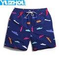 Cortocircuitos del tablero de los hombres Azul marino traje de baño verano mens joggers culturismo plavky corta del hombre de la marca de surf traje de baño de natación de los hombres gimnasio