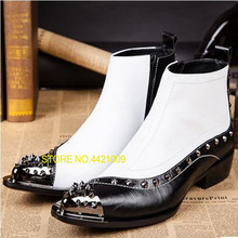 Großhandel black leather steel toe boots Gallery Billig