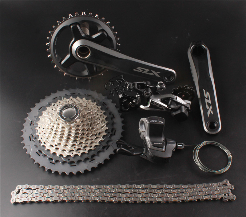 SHIMANO SLX M7000 1x11S 11-46T Speed Groupset Mountain Bike MTB Rear Derailleurs Group Kit with SLX Trigger/Crankset /Cassatte shimano deorext fd m780 m781 front transmission mtb bike mountain bike parts 3x10s 30s speed