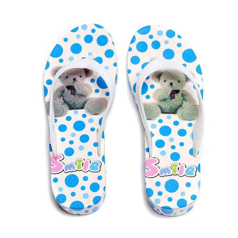 Swokii Summer Women Flip-Flop Sandal Printed Beach Casual Slippers Girl Thong Flip Flop LT88 crocs huarache flip flop