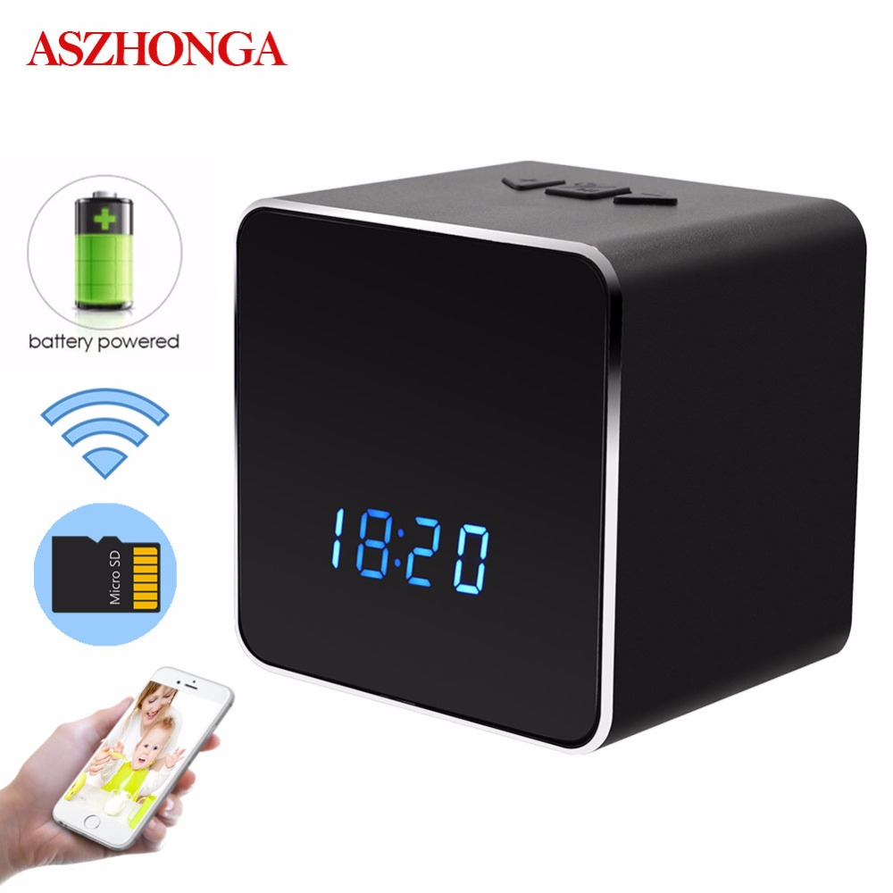 1080P 4K HD Mini IP Camera Home CCTV Security Portable Wireless Bluetooth WiFi Clock 2 Way