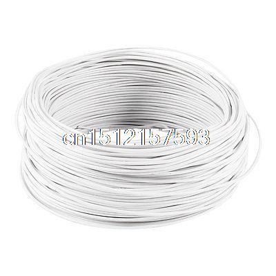 White PVC Coated Electro Galvanized 0.75mm Diameter Iron Wire 100M  цены