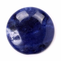Natural Blue Brazil Sodalite Round Cabochon CAB Flatback Gemstone Pick Ur Crystal Stone Wholesale Dropshipping