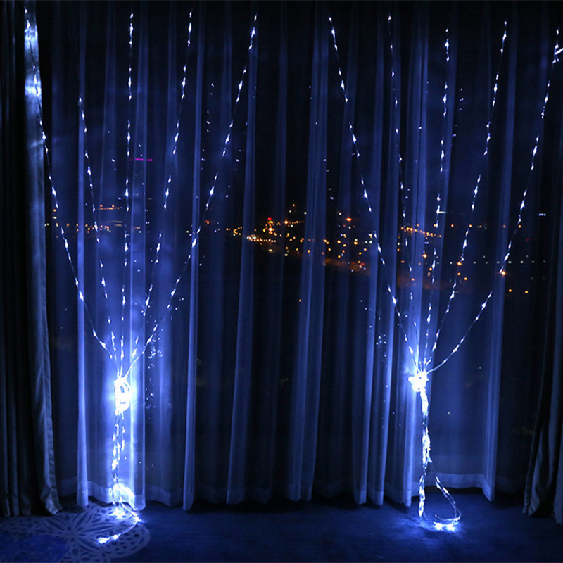 3m*3m 320LEDS Christmas waterfall lights curtain lights wedding bar background holiday decoration 220V drop watercolor lights