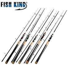 FISHKING Hi Carbono 5 Color 2.1 M-2.7 M 2 Sección Señuelo Suave Atraer Peso 2-40g Spinning caña de Pescar Caña de pescar Para Atraer pesca
