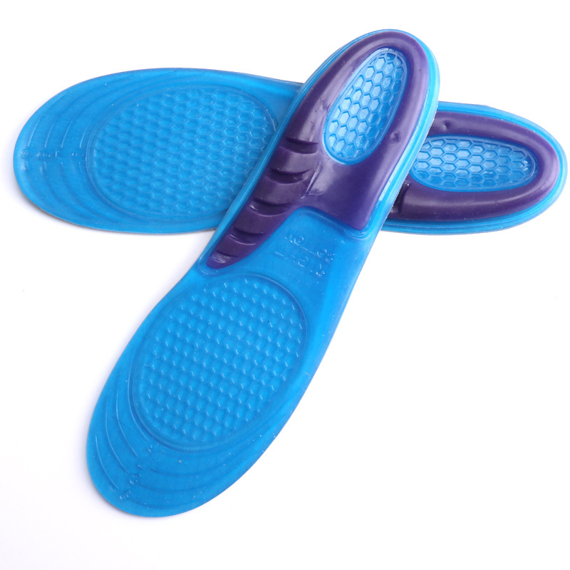 Silicone Gel Insoles Man Woman Insoles orthopedic Massaging Shoe Insoles Shock Absorption Non-slip Shoe Pad fashion boutique silicone gel insoles