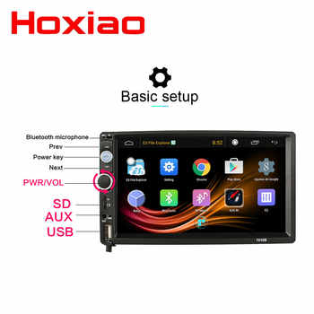 Android 2G RAM 32G ROM Car Radio Stereo GPS Navigation Bluetooth USB SD 2 Din Touch Car Multimedia Player Audio Player Autoradio