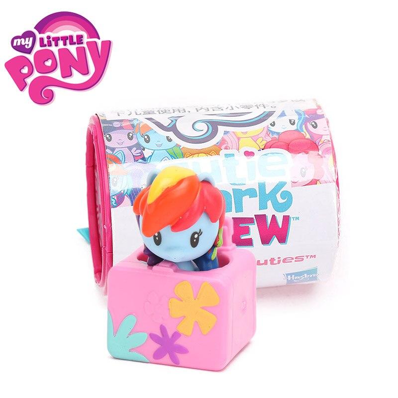 1pcs 2018 My Little Pony Toys Cafeteria Cuties Mini Pony Dolls Friendship is Magic Rainbow Dash Twilight Sparkle Action Figures 12pcs my little pony action figures collection rainbow dash pony kids toys set