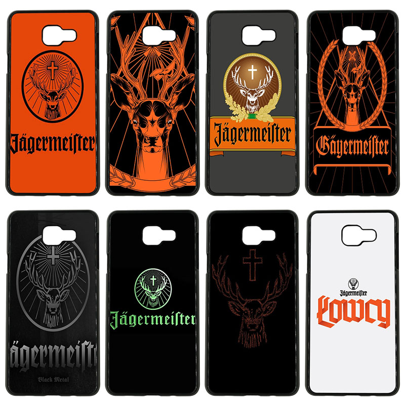 Fashion Jagermeister Logo Deer Head Cell Phone Cases Hard Cover for Samsung Galaxy S8 S9 Plus S3 S4 S5 Mini S7 S6 Edge Plus Case