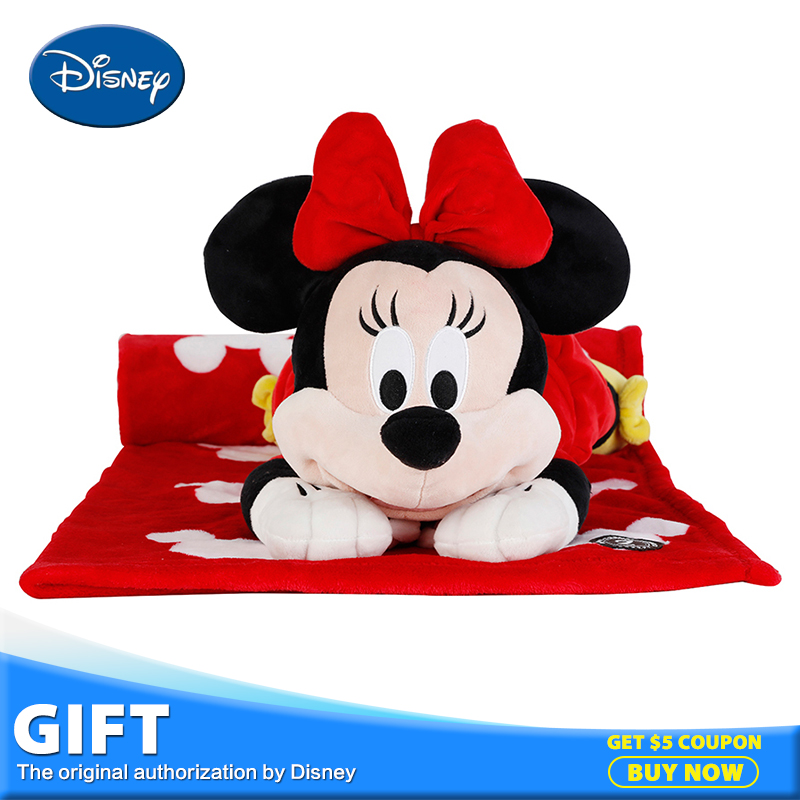 Disney Minnie Mouse Plush Stuffed Toy Peluches Doll Multifunctional