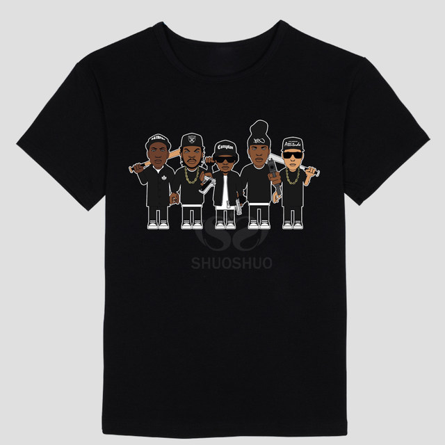 N.w.a, (niggaz Wit actitudes) tema de la música hip hop música grupos  personalidad patrón de diseño hombres camiseta manga corta Camiseta NWA