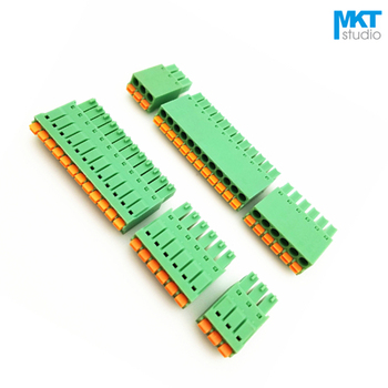 100Pcs 5P 3.5mm Pitch Spring-Type Female Pluggable PCB Electrical Terminal Block