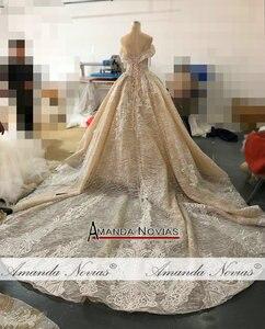 Image 2 - 2019 nuovo abito da sposa con largo della spalla cinghie robe de soiree