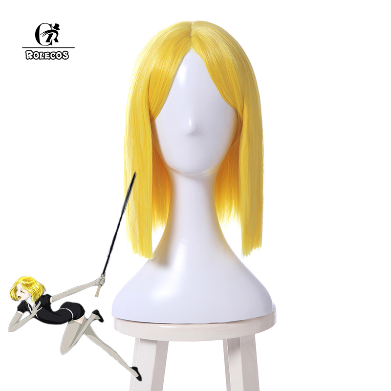 ROLECOS Land of the Lustrous Cosplay Headwear Yellow Diamond Cosplay Short Blonde Synthetic Hair Women Cosplay Hair