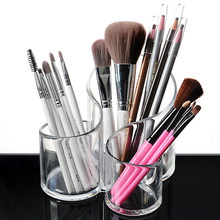 Clear Makeup Brush Holder Accessories Cosmetic Display Stand Makeup Storage Box Organizers Lipstick Display Boxes Cosmetic(China)