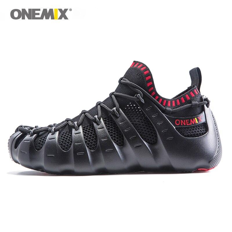 Onemix Rome chaussures hommes et femmes chaussures de course léger en plein air marche chaussure chaussette-comme des baskets respectueux chaussures de jogging