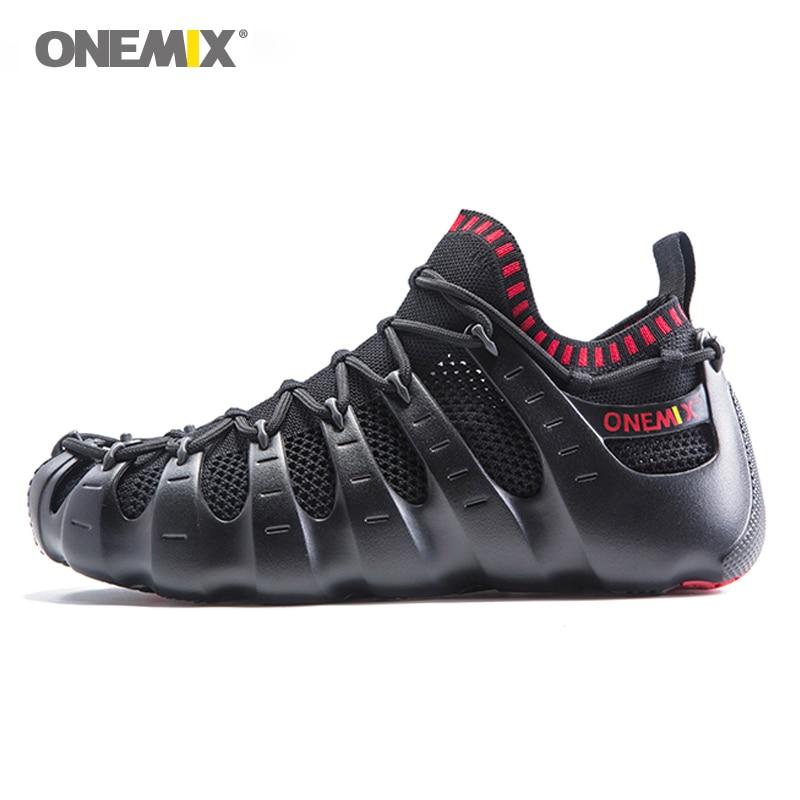 Onemix Rome chaussures hommes et femmes chaussures de course lumière extérieure chaussures de marche chaussette-comme sneakers respectueux de l'environnement chaussures de jogging