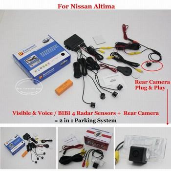 For Nissan Altima Car Parking Sensors Auto Rear View Sensor Back Up Reverse Camera Alarm System