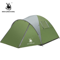 camping tent 3 4 Person Ultralight Tent Camp Equipment 190D Double layer 3 4 Man 4season outing big space high quality