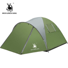 camping tent 3-4 Person Ultralight Tent Camp Equipment 190D Double-layer Man  4season outing big space high quality