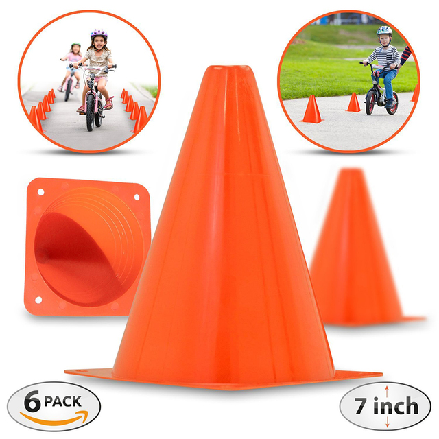 6 Pcs/lot Multi Color Soccer Disc Cones 7 inch Football Training Agility  Cones Soccer Sports Field Drill Markers -in Soccers from Sports &
