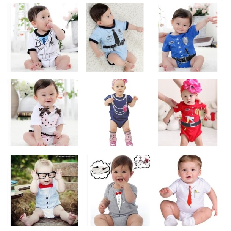 100% Cotton Baby Bodysuits Toddler body suit Newborn One Pieces Clothes Doctor Ties baby boy clothes jumpsuit