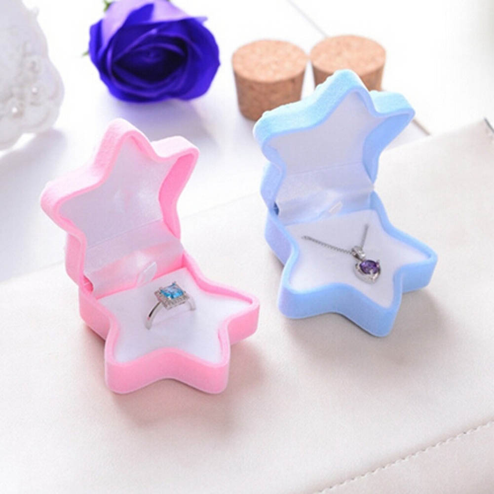 1pc Fashion Jewelry Necklace Jewelry Display Box For Gift Personality And Creativity Of The Young Star Premium Quality Velvet