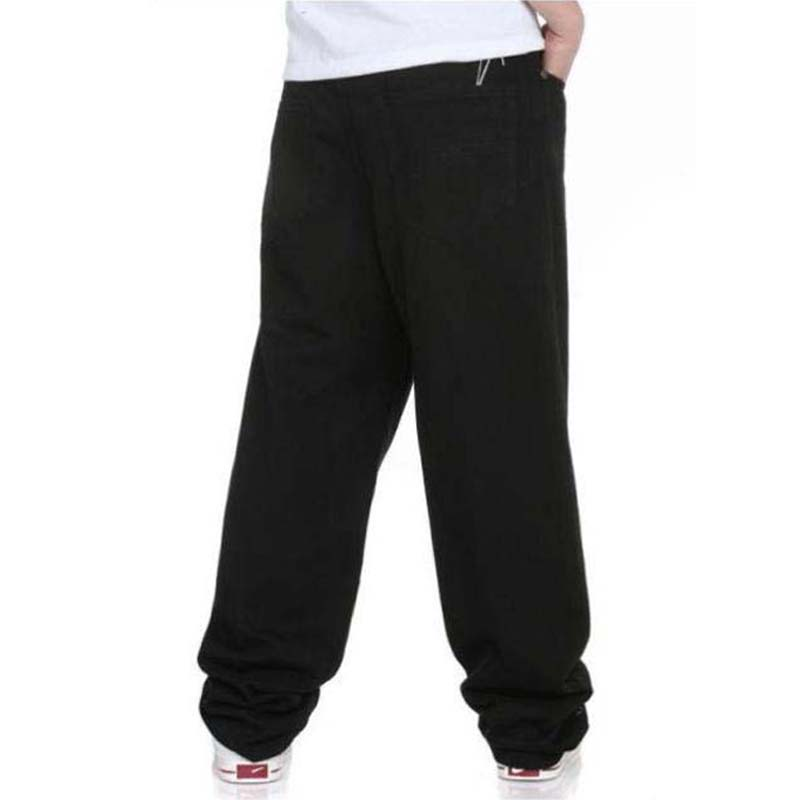 Большие размеры, мужские джинсы, черные джинсовые штаны, Свободные мешковатые штаны в стиле хип-хоп, шаровары, брюки для скейтборда, мужская одежда