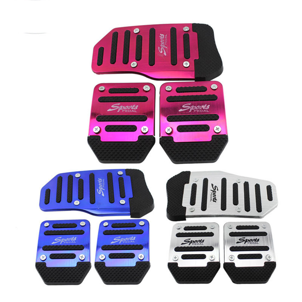 Universal Racing Sport 3X Car Manual Non-Slip FootPedal Pad Covers blue