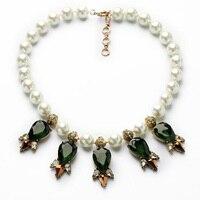 Благородные элегантные вечерние женские Античное золото Цвет многоликой Tear создана жемчужина Цепочки и ожерелья для Бесплатная доставка