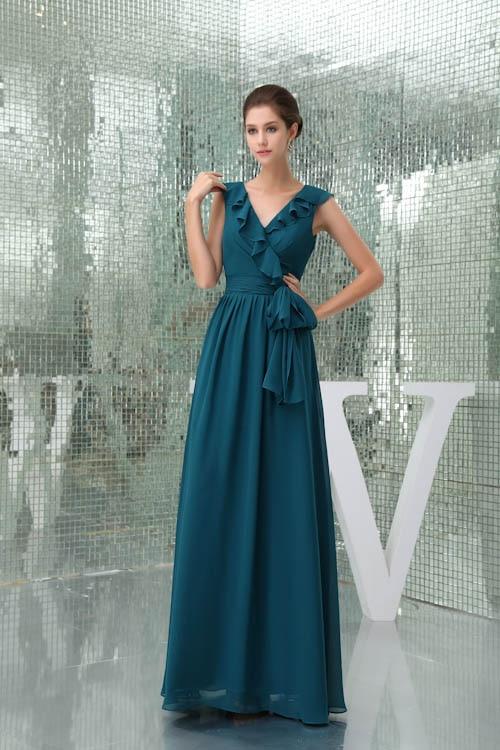 Babyonlinedress Strapless Chiffon Elegant Bridesmaid Dress Women Gown  Chiffon Vintage Ruffles Wedding Dress Custom-made