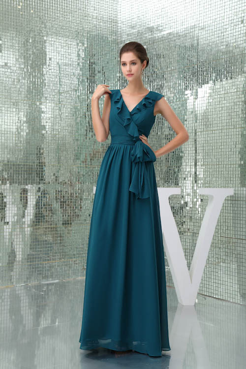 Babyonlinedress Strapless Chiffon Elegant   Bridesmaid     Dress   Women Gown Chiffon Vintage Ruffles Wedding   Dress   Custom-made